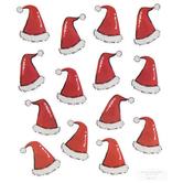 Santa Hat Glitter Stickers