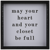 Heart & Your Closet Wood Wall Decor