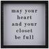 Heart & Your Closet Wood Wall Decor