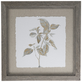Golden Botanical Framed Wall Decor