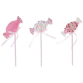 Pink Wrapped Candy Picks