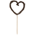 Brown Twig Heart Cake Topper