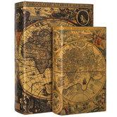 Antique Map Book Box Set