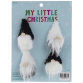 Mini Black & White Gnome Ornaments