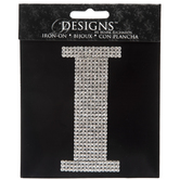 Rhinestone Letter Iron-On Applique - I