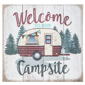 Welcome To Our Campsite Wood Wall Decor