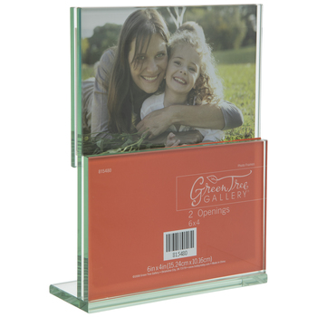 Double Opening Blocked Glass Collage Frame