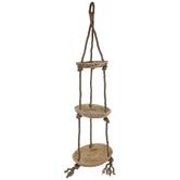 Three-Tiered Wood Hanging Tray