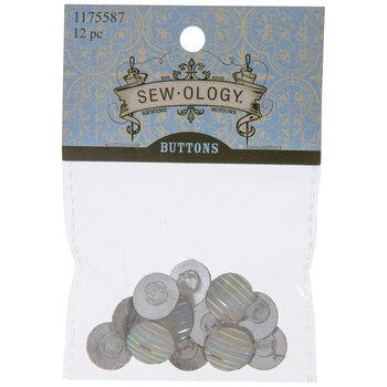 Iridescent Striped Round Shank Buttons