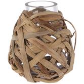 Straw Covered Vase