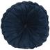 Navy Velvet Round Pillow
