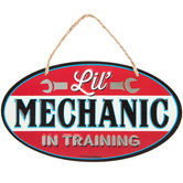 Lil' Mechanic In Training Metal Sign