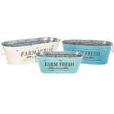 Farm Fresh Metal Planter Set