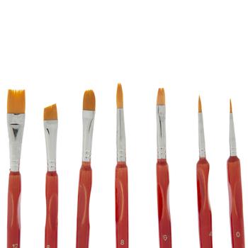 Hobby Paint Brushes - 7 Piece Set