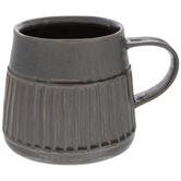 Metallic Brown Ribbed Mug