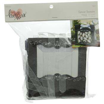 Black Chalkboard Favor Boxes