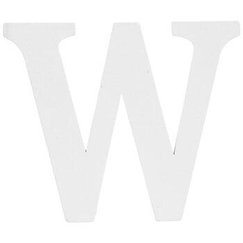 "White Wood Letter W - 3"""
