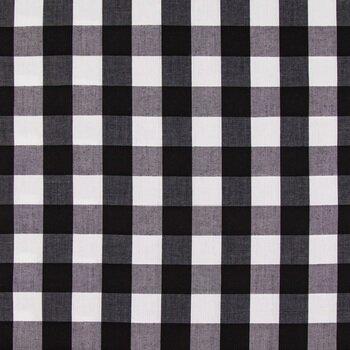 Black & White Gingham Fabric
