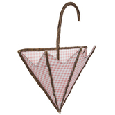 Pink Buffalo Check Umbrella Wood Wall Container