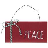 Peace Plank Ornament