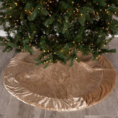 Gold Damask Velvet Tree Skirt