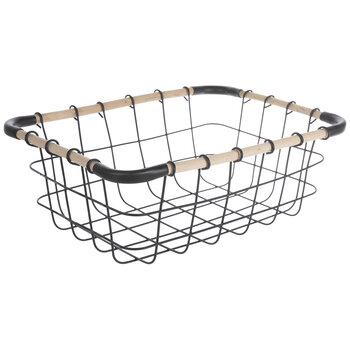 Black Wire Metal Basket