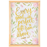 James 1:17 Gift From Above Wood Wall Decor