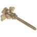 Gold Flower Metal Knob With Rhinestones