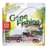 Johnny Lightning Gone Fishing Die Cast Car & Boat