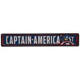 Captain America Street Metal Sign