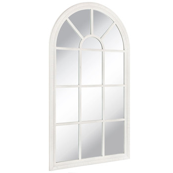 Cream Cathedral Wood Wall Mirror