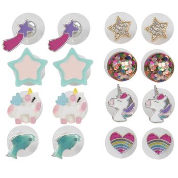 Unicorn, Stars & Hearts Earrings