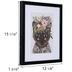 Floral Cat Framed Wall Decor