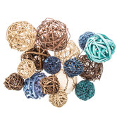 Turquoise & Natural Decorative Spheres
