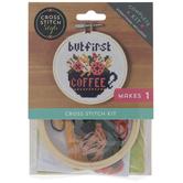 But First Coffee Cross Stitch Kit