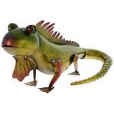Green, Yellow & Red Metal Lizard
