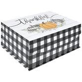 Buffalo Check Thankful Pumpkins Box