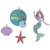 Mermaid & Starfish Enamel Charms