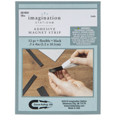 "Flexible Adhesive Magnet Strips - 1/2"" x 4"""