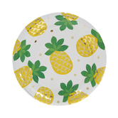 Pineapple & Polka Dot Paper Plates