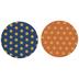 Blue & Orange Foil Polka Dot Coasters