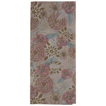 Pink & Mint Metallic Floral Tissue Paper