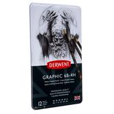 Derwent Medium Graphite Pencils - 12 Piece Set