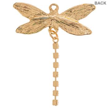 Dragonfly Rhinestone Pendant