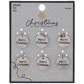 Merry Christmas Circle Charms