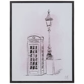 Pink Phone Booth Wood Wall Decor