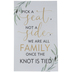 We Are All Family Wood Decor