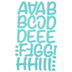 Turquoise Friendly Flock Alphabet Iron-On Transfers