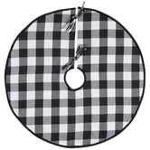 Black & White Buffalo Check Tree Skirt