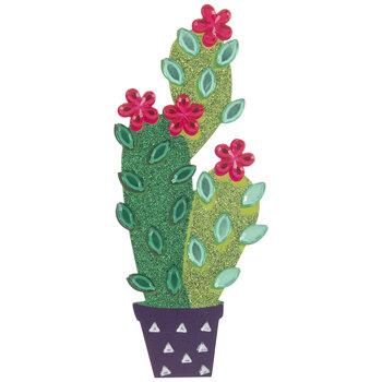 Cactus Cluster Glitter & Rhinestone Sticker